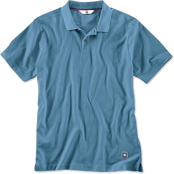 BMW Polo para hombre de acero azul (tamaño grande): Amazon.es ...