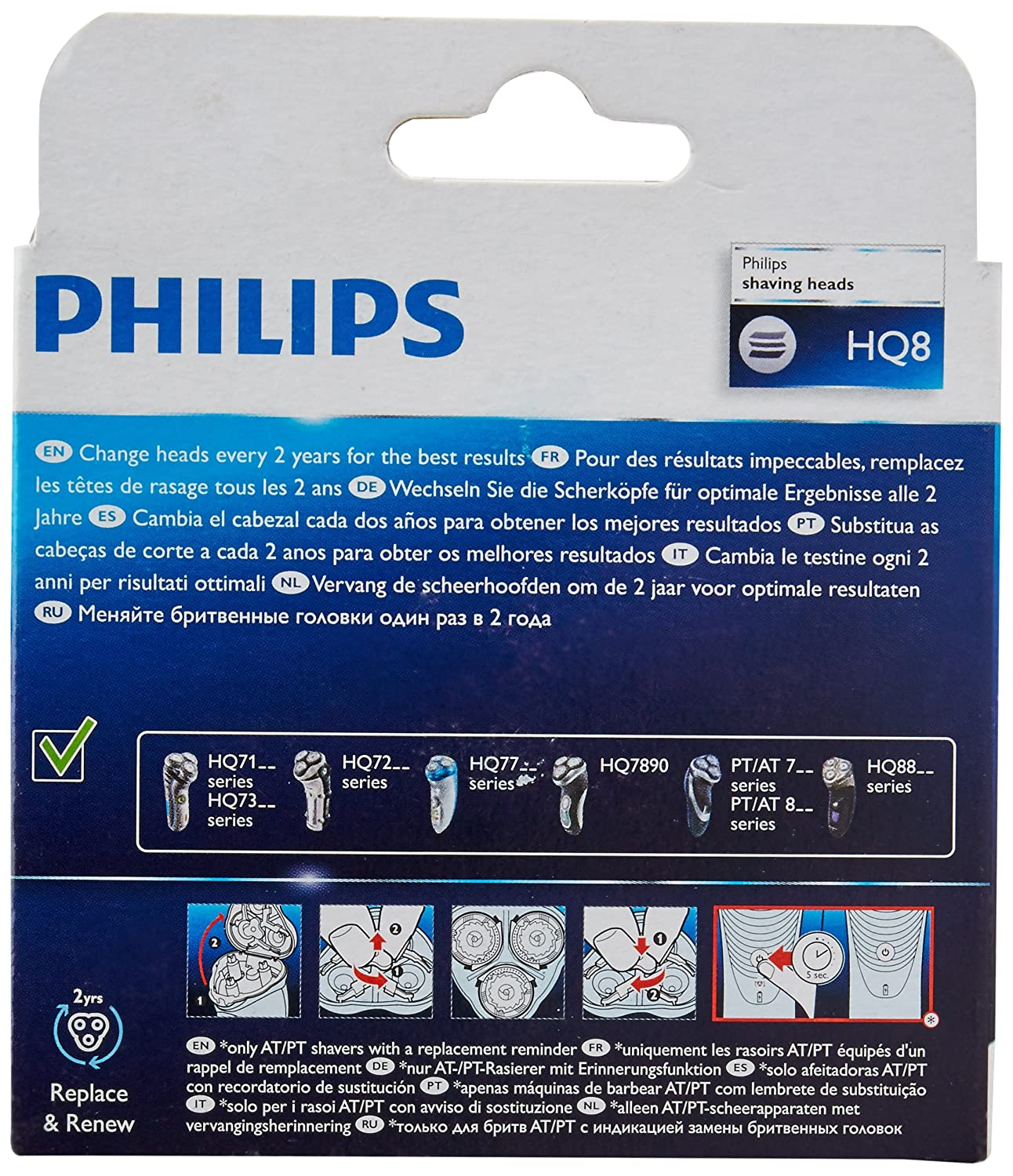 Philips Shaver Head HQ8 50 - DualPrecision  Amazon.co.uk  Health   Personal  Care de99867256a2