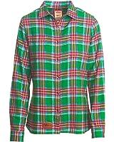 Woolrich Women's Pemberton Flannel Shirt in Dogfish Plaid