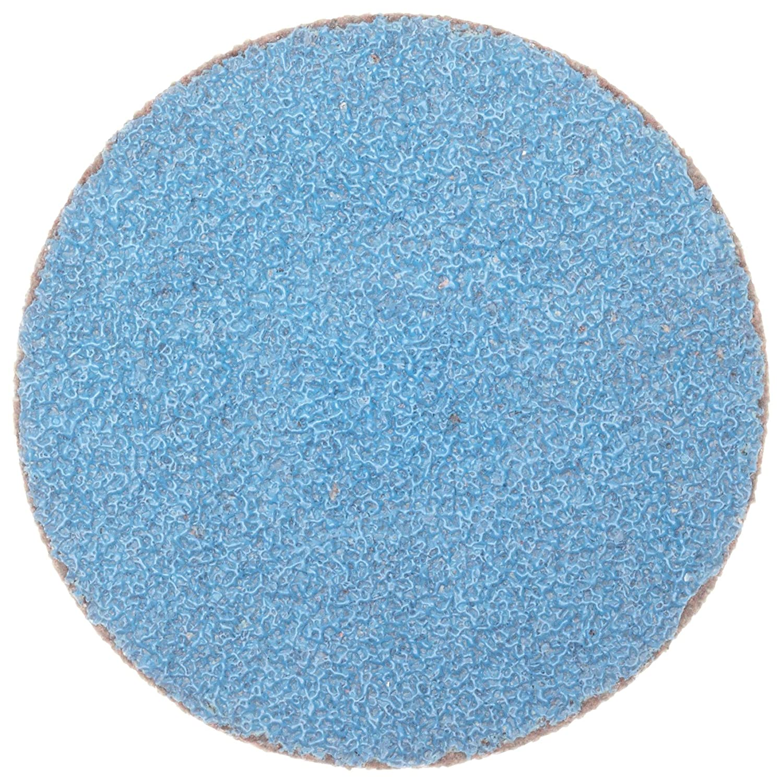 Grit 24 Cloth Backing Norton R884P BlueFire Speed-Lok Abrasive Disc Pack of 25 TS Zirconia Alumina 2 Diameter