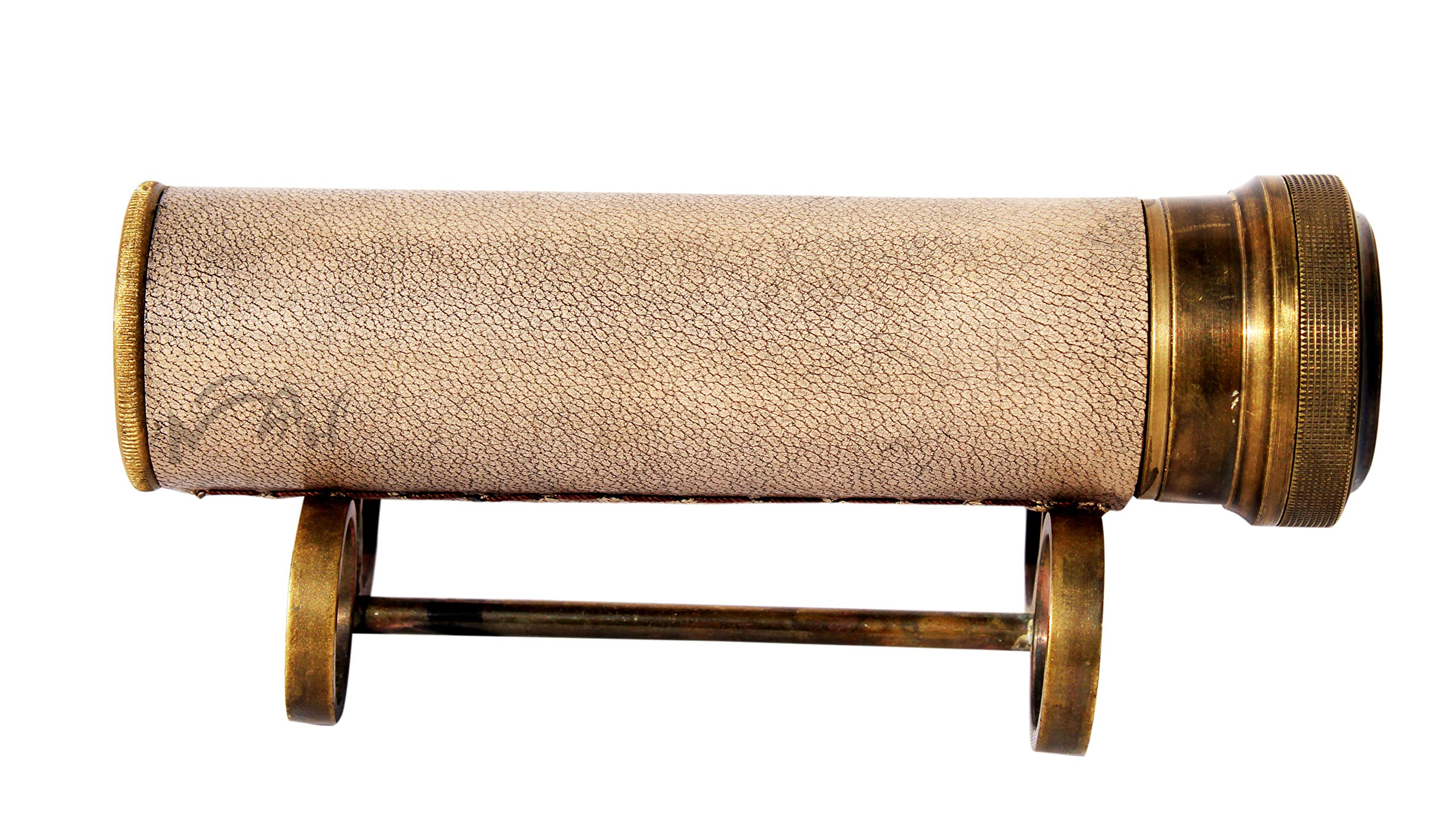 MAH Best Handmade Brass Kaleidoscope with Stand Gift for Everyone with Leather -3046