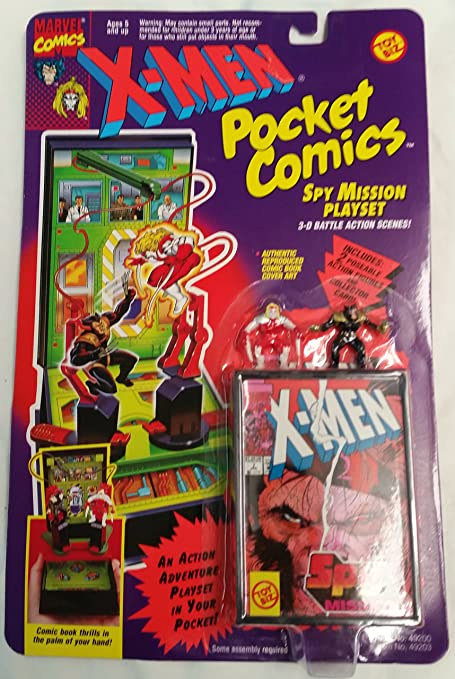 MARVEL x-men pocket comics jet hanger set.