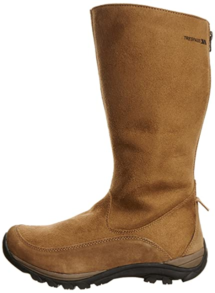 Amazon.com | Trespass womens Trespass Ladies Jinta Long Suede Faux Fur Lined Country Winter Boots Suede | Hiking Shoes