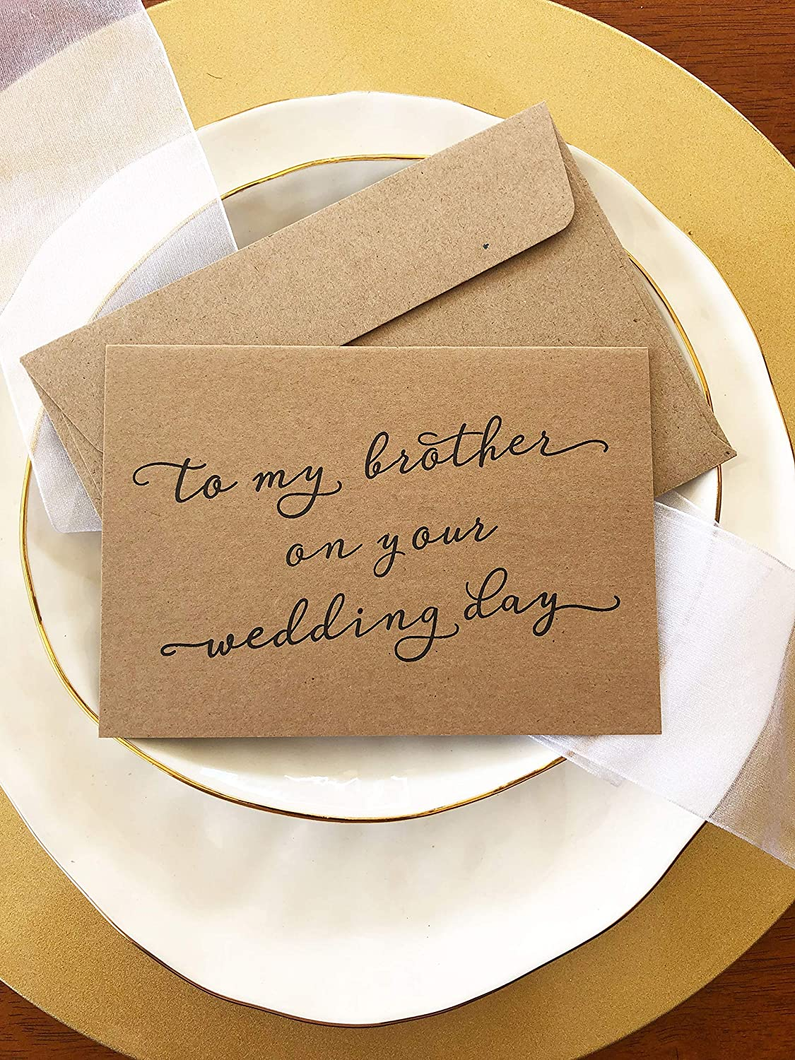 Rustic To My Brother On His Wedding Day Card Gift For Groom