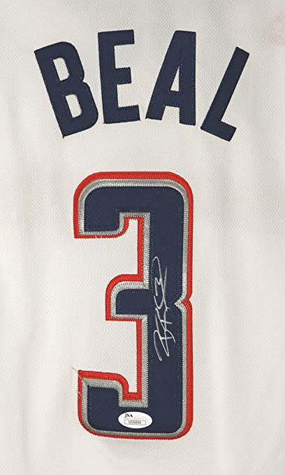 get cheap c0ef8 5adad Bradley Beal Washington Wizards Signed Autographed White ...
