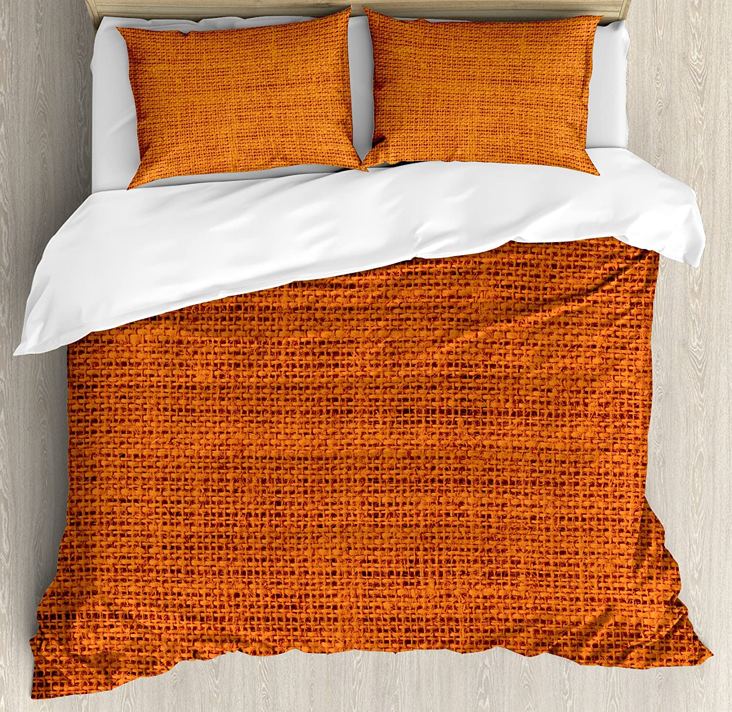 dp country fabric by orange duvet decorative cover living ambesonne thick size com set style rough texture image rustic close print up king amazon burnt