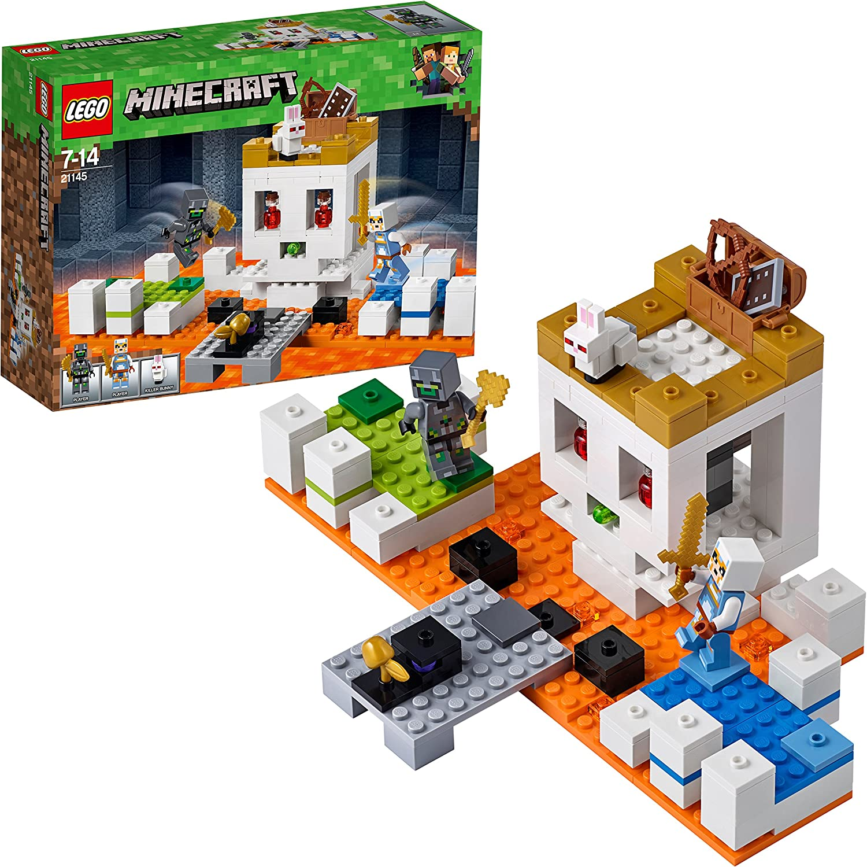 LEGO Minecraft - La Calavera de la Lucha, Set de Construcción de Juguete Creativo del Videojuego con Muñecos para Niños y Niñas de más de 8 Años (21145)