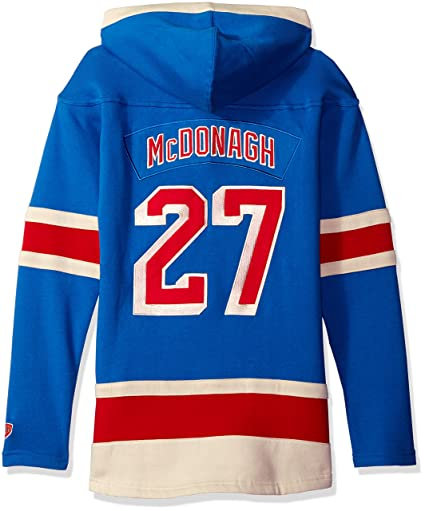 2ddee6de4 Old Time Hockey NHL New York Rangers Ryan McDonagh Women s Player Lacer  Name   Number Hoodie