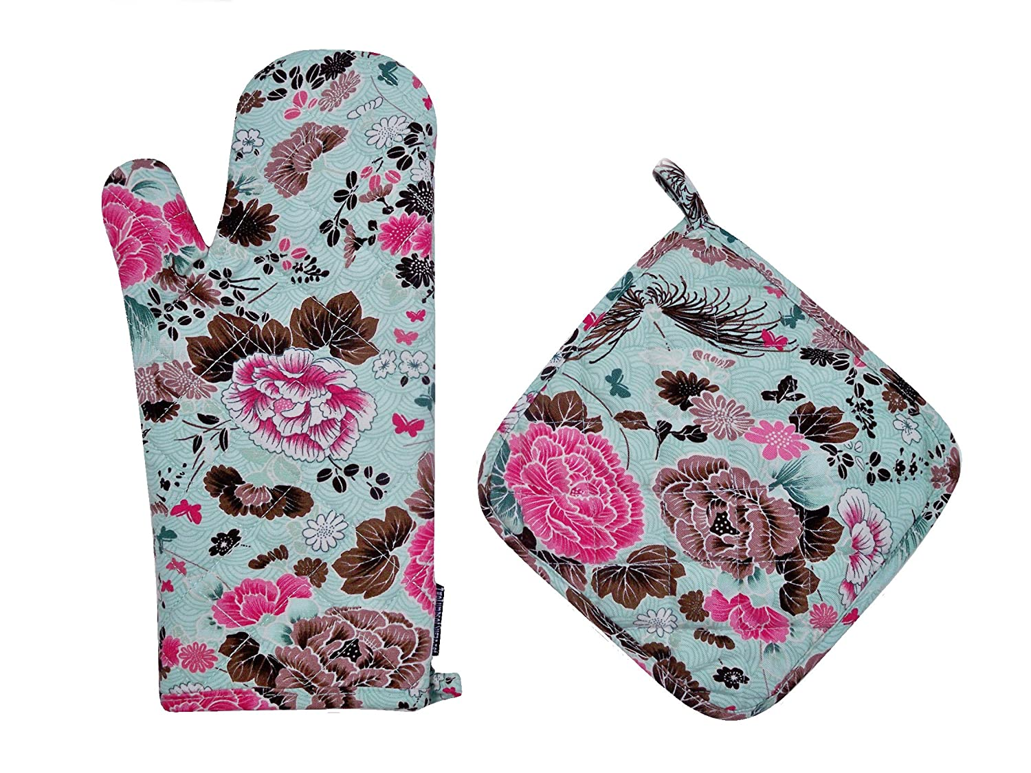 Two Lumps of Sugar Oven Mitt/Potholder Set, Asiana