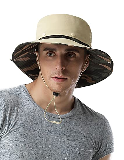 4063f989fe9 Amazon.com   Feeker Waterproof Outdoor Wide Brim Sun Hat