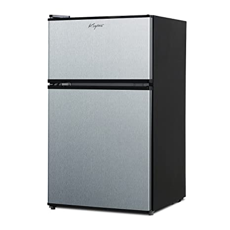 Keyton A1 3.1CFDDSS Refrigerator U0026 Freezer With Double Doors   3.1 Cubic  Feet,