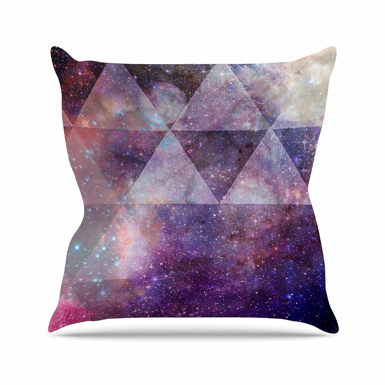 26 by 26 Kess InHouse Suzanne Carter Geometric Stars Purple Black Throw Pillow