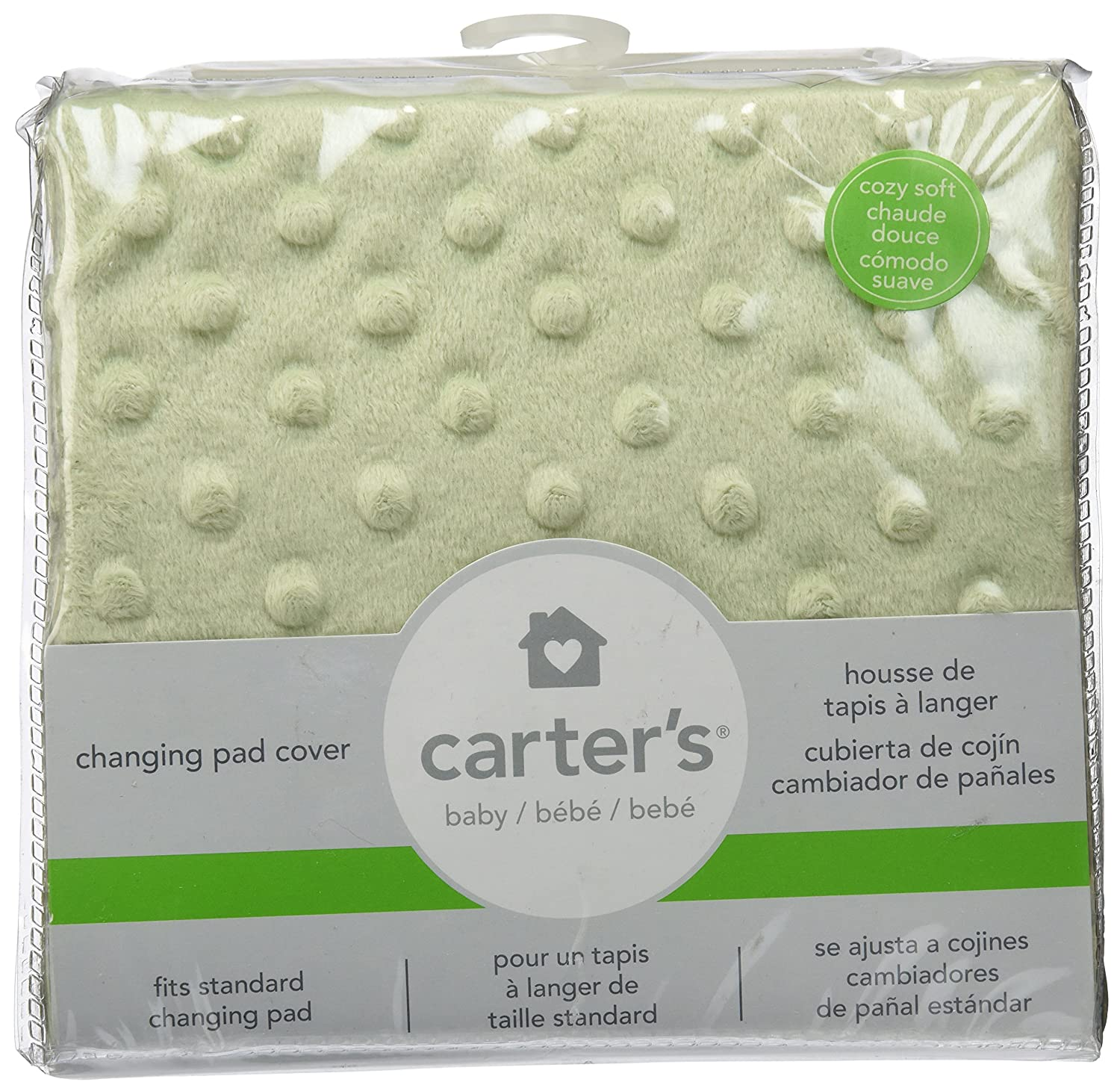 Amazon.com: Carters Super Soft Dot Changing Pad Cover, Sage ...
