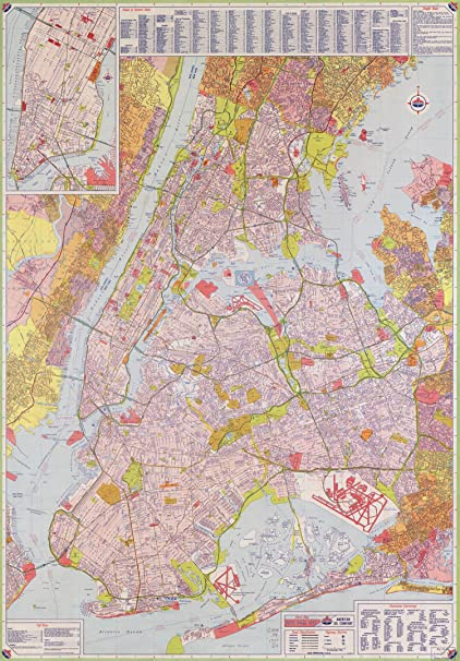 Amazon Com Map Poster Street Map New York City 24 X17 Posters