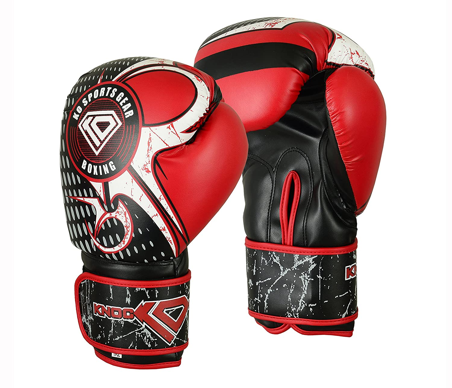 RED Training Gloves Kickboxing Karate Boxing Bag Mitts LOCUS Sparring MMA
