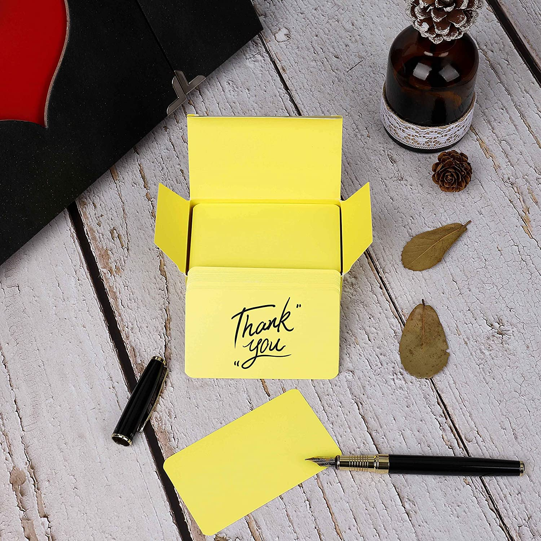 Kraft Paper 300 Pezzi Cartolina dauguri Carte di Parole Kraft Cartoncino Carte Bianche Schede di Memoria Carta di Carta fai-da-te Piccola Graffiti Carta 9x5.5cm