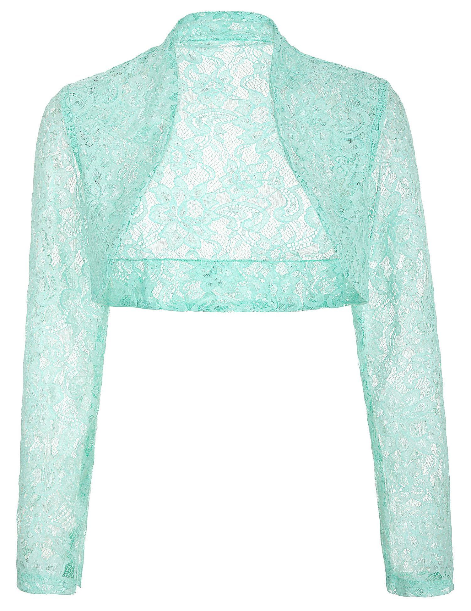 Fashion Floral Lace Crochet Bolero Shrug Cardigan Crop Top JS49-3 XL