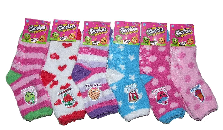 9301f2f41c8 Amazon.com  Shopkin Slipper Socks Girls (Acrylic)  Clothing