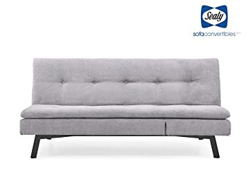Fabulous Sealy Savannah Transitional Convertible Chaise Sofa In Gray Ibusinesslaw Wood Chair Design Ideas Ibusinesslaworg