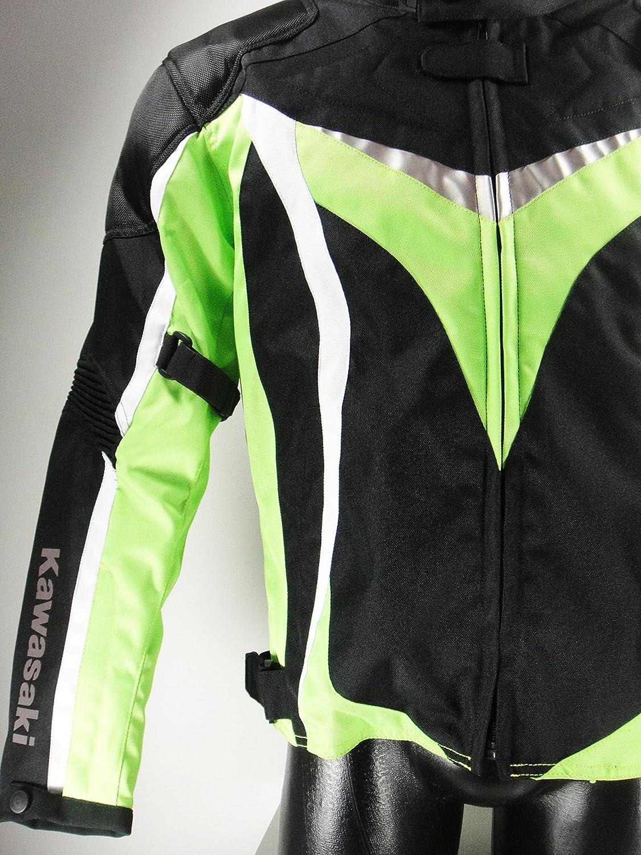 Kawasaki Ninja textil Chaqueta.Moto Chaqueta. NUEVO. Talla XL Negro Verde Blanco: Amazon.es: Coche y moto
