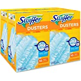 Swiffer 21459CT Refill Dusters, Dust Lock Fiber, Light Blue, Unscented, 10/Box, 4 Box/Carton