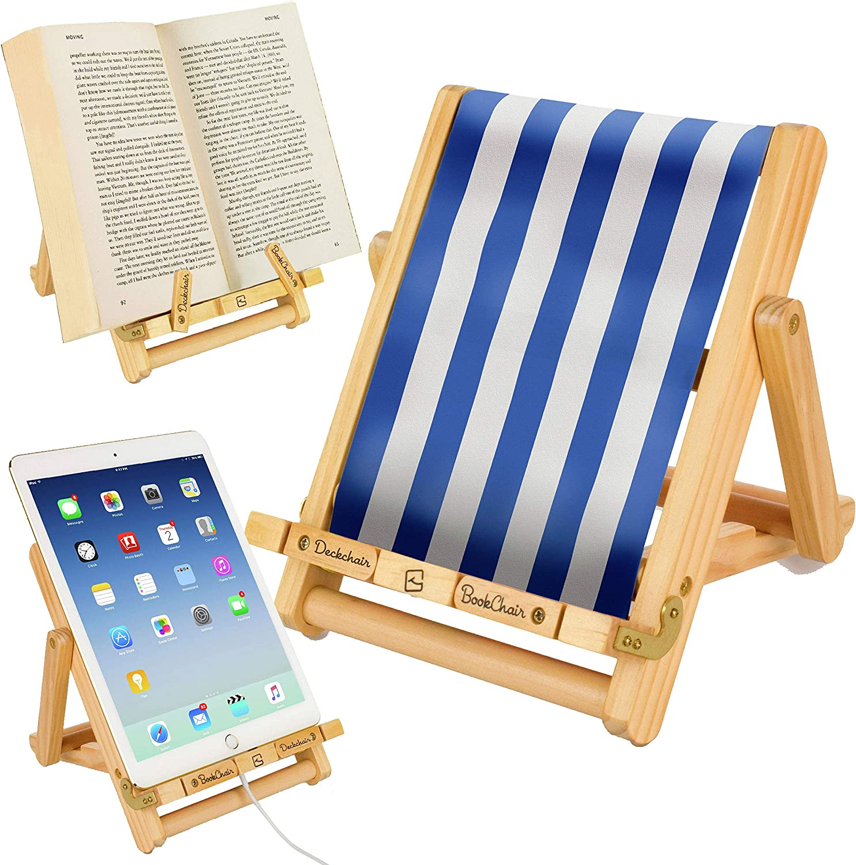 Stripy Deckchair Wooden Bookholder For Recipe Books