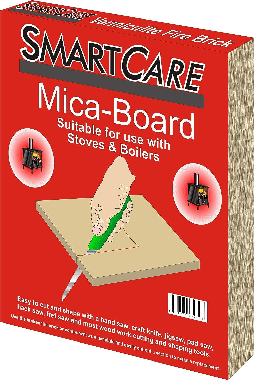 SCARE11 : Vermiculite Fire Brick, Mica Board Insulating Panel for Stove - 30 x 25 x 2.5 cm IQ Design