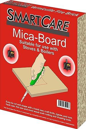SmartCare - 30 x 25 x 2,5 cm ladrillo vermiculita de fuego: Amazon.es: Bricolaje y herramientas