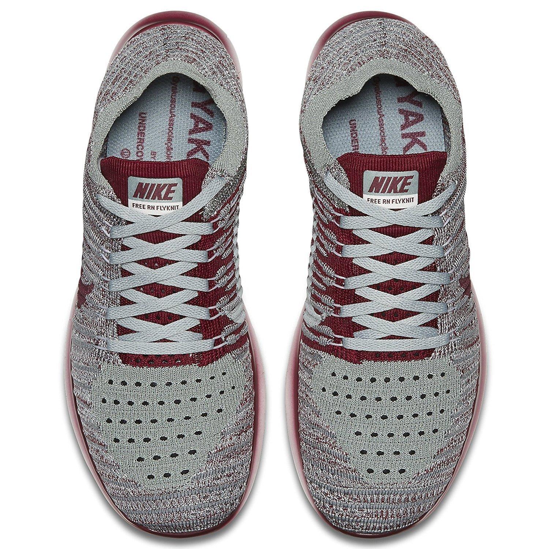 NIKE Women's Free RN Flyknit 2017 Running Shoe B01N11UKBD 6 B(M) US|Wolf Grey/Team Red/Mica Green/Cool Grey