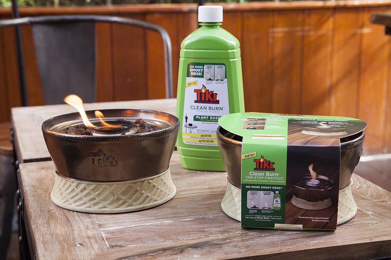 amazon com tiki brand clean burn ceramic tabletop firepiece