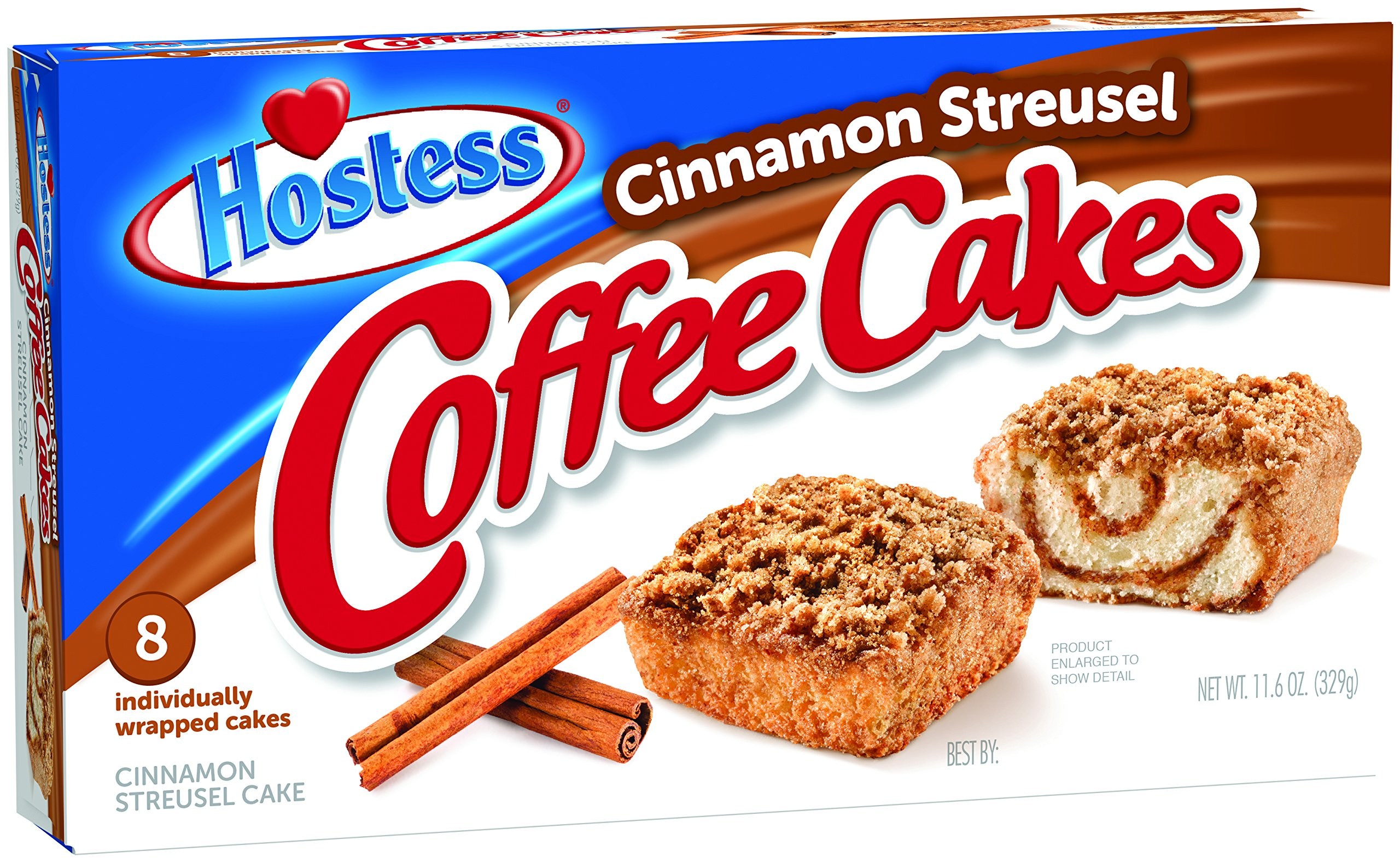 Hostess Coffee Cakes, Cinnamon Streusel, 8 Count (Pack of 6) by Hostess