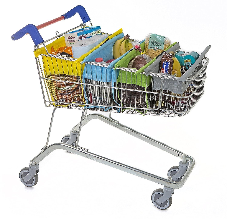 trolley bags Bolsas para carrito de la compra, color pastel: Amazon.es: Hogar