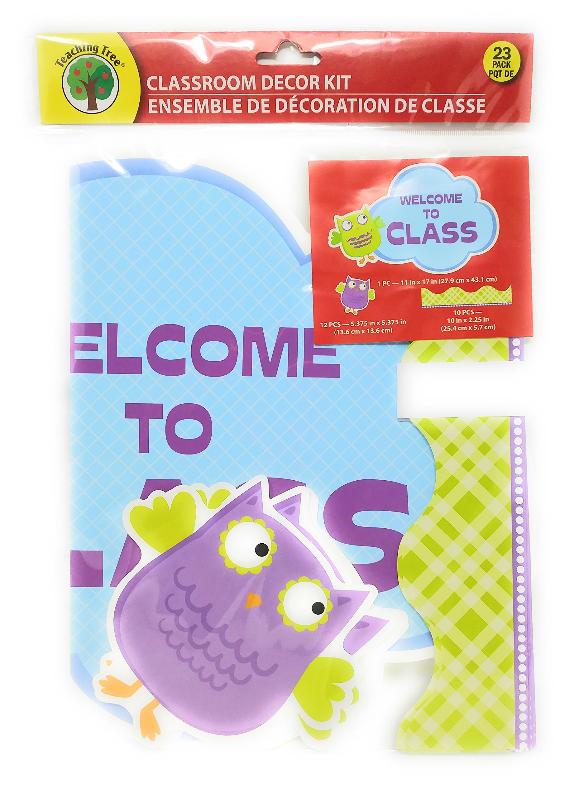 Back to School Student Toddler Pre-school Elementary Middle School Classroom Teacher Room Plastic Classroom Room Decor Decoration Bulletin Board Border 23-pc. Pack (BONUS 3 POST IT NOTES Welcome Class