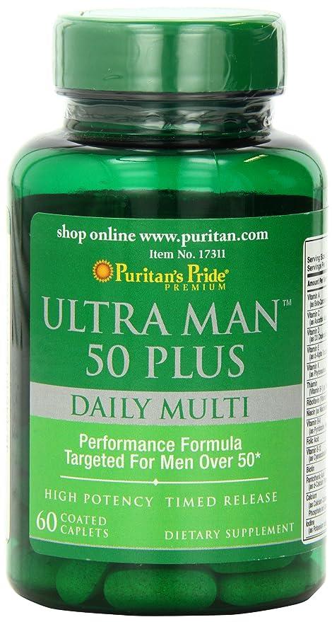 Ultra Vita Man 50 Plus 60 tabletas Vitaminas Minerales Hombre.