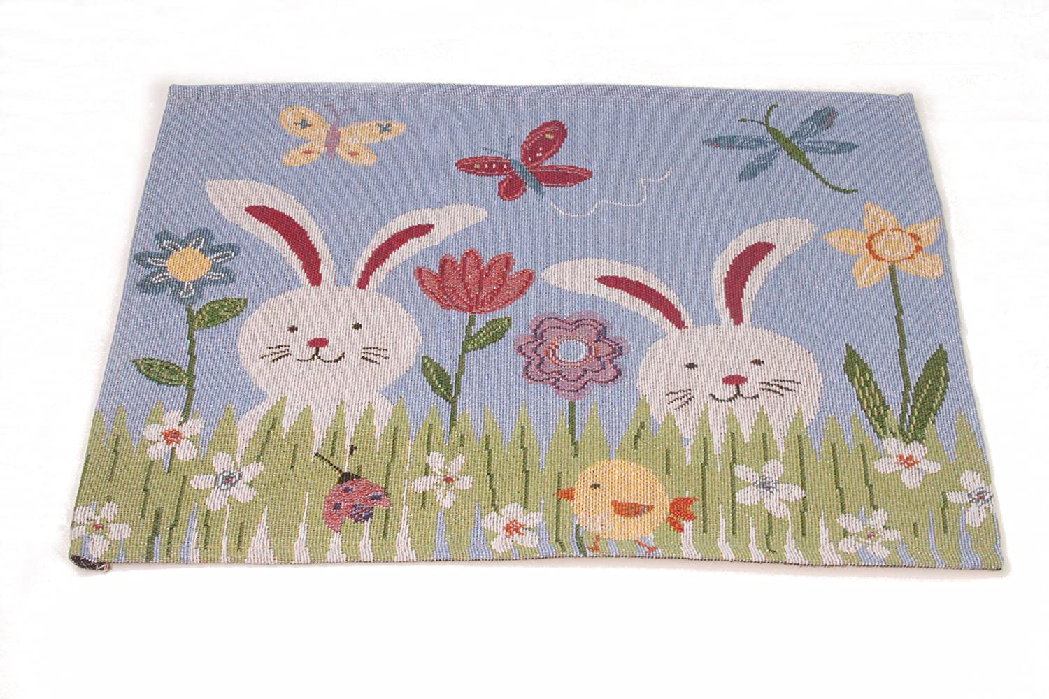 Generic Jacquard Design Decor Bird House Tapestry Cotton Placemat and Table Runner for Table,Dining Pack of 1 Set
