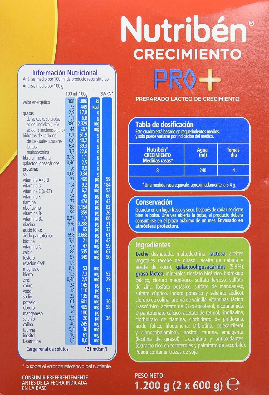 Nutribén Leche Crecimiento - 1200 gr