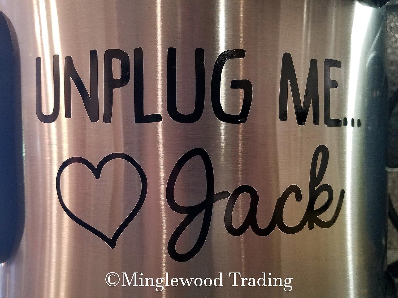 "Black - Unplug ME Love Jack 5"" x 2.75"" Vinyl Decal Sticker - This is Us - Crock Pot Crock-Pot - 20 Color Options"