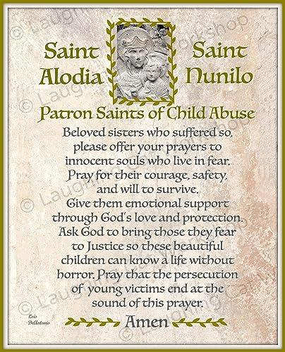 Amazoncom Patron Saints Of Child Abuse Jesus Art Bible Quote Print