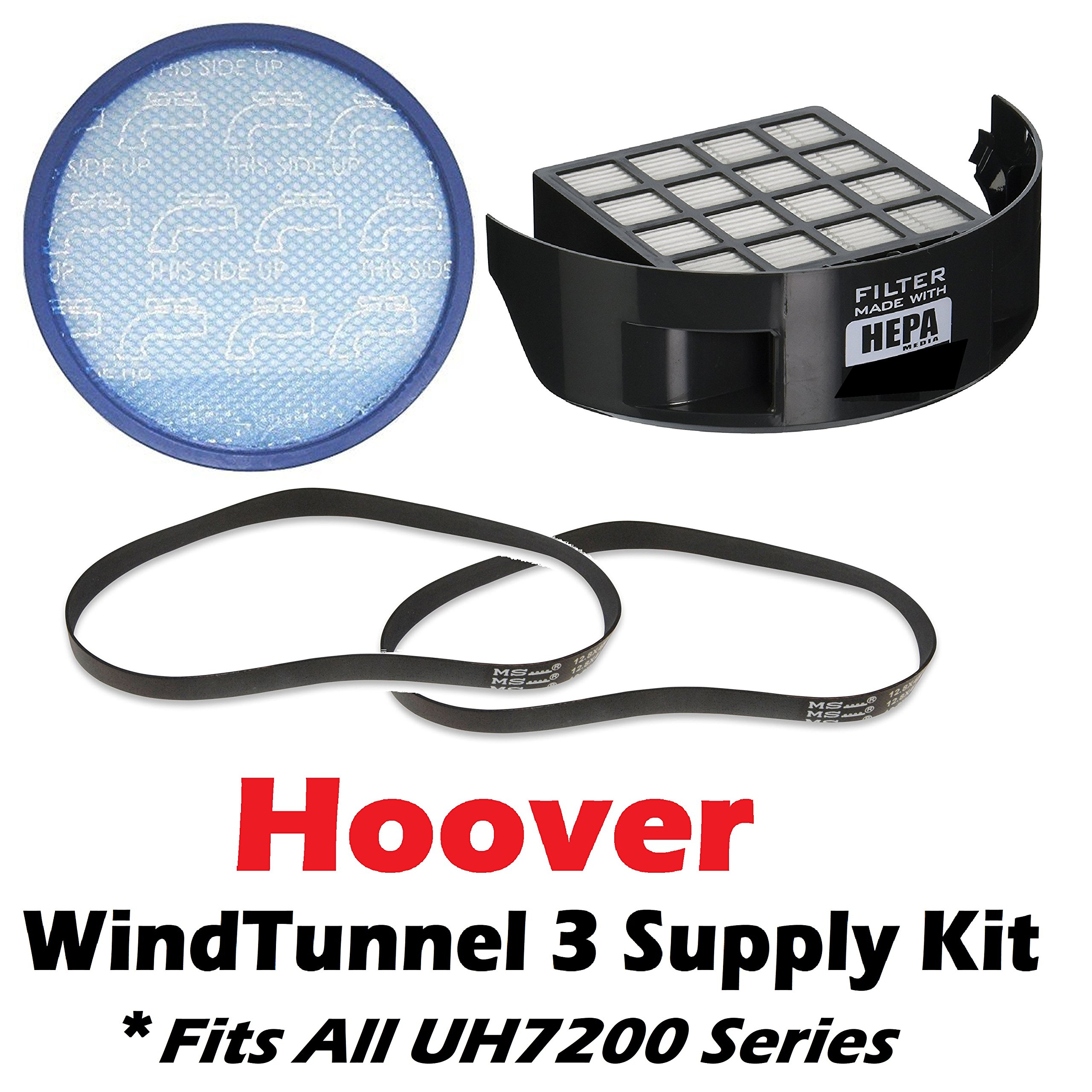 Hoover WindTunnel 3 UH7200 Series Bagless Upright Filter and Belt Supply Kit