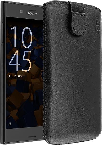 Mumbi Echt Ledertasche Kompatibel Mit Sony Xperia Xz Xzs Hülle Leder Tasche Case Wallet Schwarz Elektronik