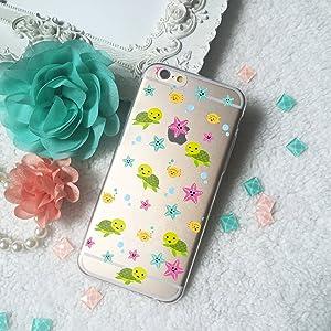 Turtle Starfish Globefish pattern Clear TPU Phone Case for iPhone 4 4s 5 5s 5c SE 6 6S Plus Galaxy S4 S5 S6 S7 edge Note 7 HTC One LG G5 G4 Xperia Z5 Mini Z4 Nexus 5X 6P