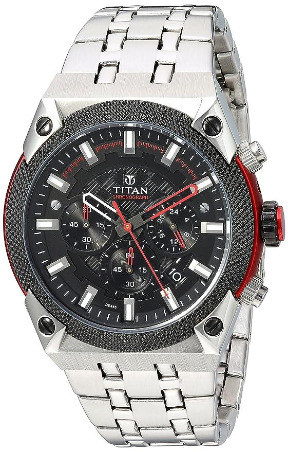 Titan Octane AW Analog Black Dial Men's Watch -90030KM01ME Men at amazon