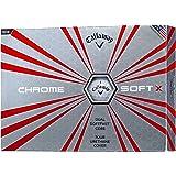Callaway(キャロウェイ) ゴルフボール CHROME SOFT X ゴルフボール ボールカラーホワイト 12個入り メンズ 6424054120044 ホワイト