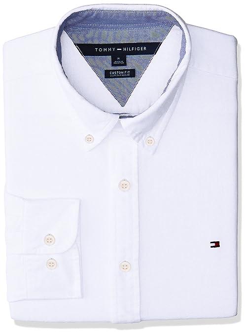 522eff3f Tommy Hilfiger Men's New England Solid Oxford Shirt White med ...
