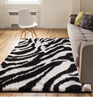 Amazon Com Large Zebra Rugs Contemporary Area Rugs Zebra Print Rugs