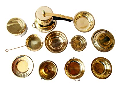 Buy The Digital Store 12 Pieces Vintage Miniature Brass Metal