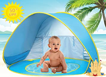 Baby Beach Tent Pool UV Protection Sun Shelter Pop Up for Kids - Blue Yellow  sc 1 st  Amazon.com & Amazon.com: Baby Beach Tent Pool UV Protection Sun Shelter Pop Up ...