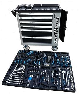 Carro de herramientas de taller profesional con puerta lateral y 155 pzs herramientas reales…