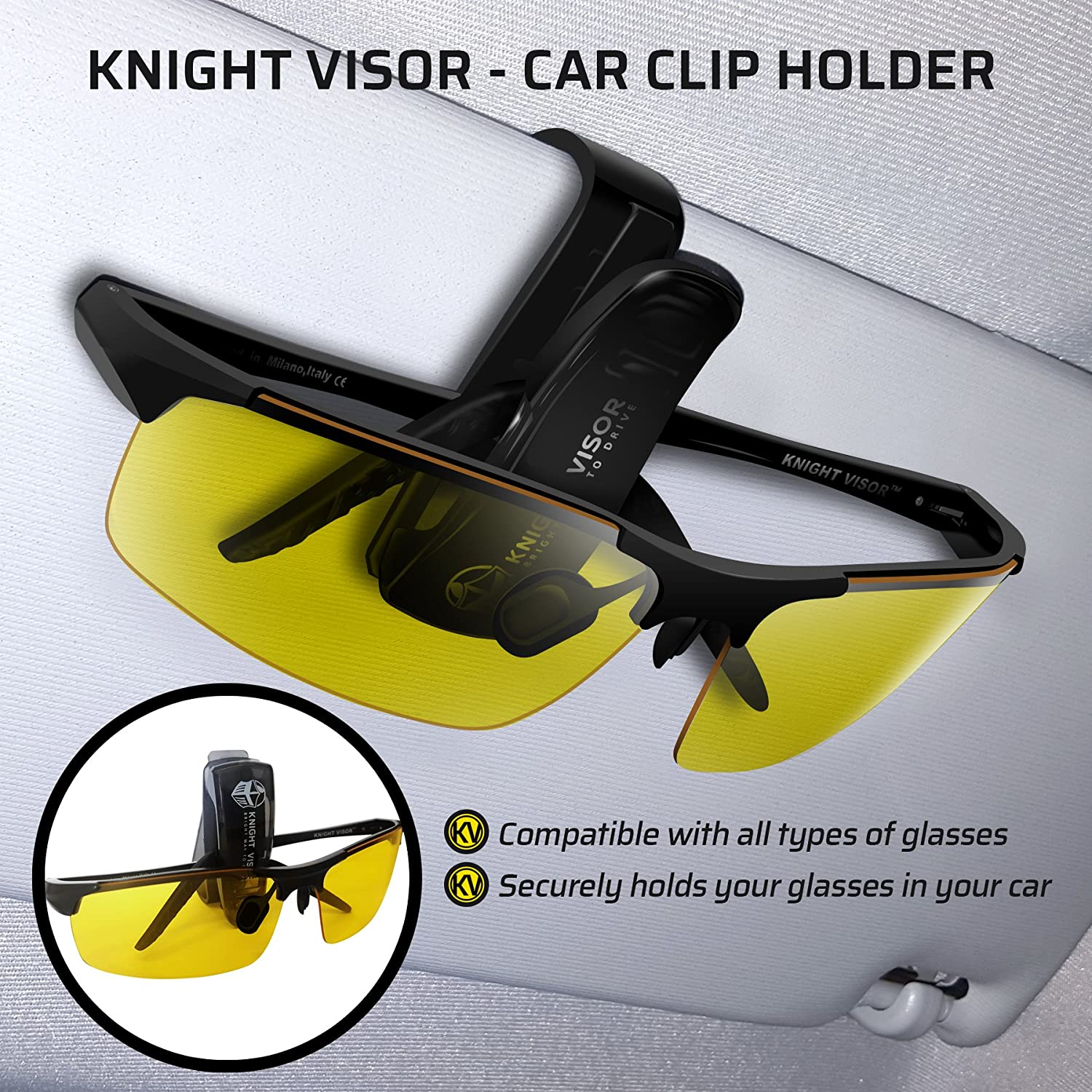 Amazon.com : BLUPOND Night Driving Glasses - Anti-glare HD Vision - Yellow  Tint Polycarbonate Lens - Safety Sunglasses for Men and Women Plus Car Clip  ...