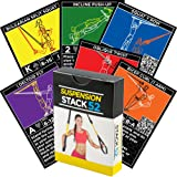 Suspension Exercise Cards by Stack 52. For TRX, Woss, and Ritfit Trainer Straps. Suspended Bodyweight Resistance Workout Game. Video Instructions Included. Fun at Home Fitness Training Program.